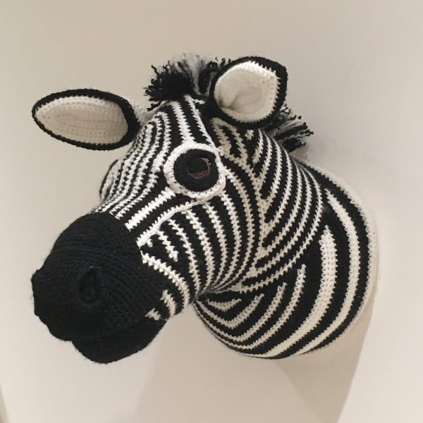 Zebra Crochet Head